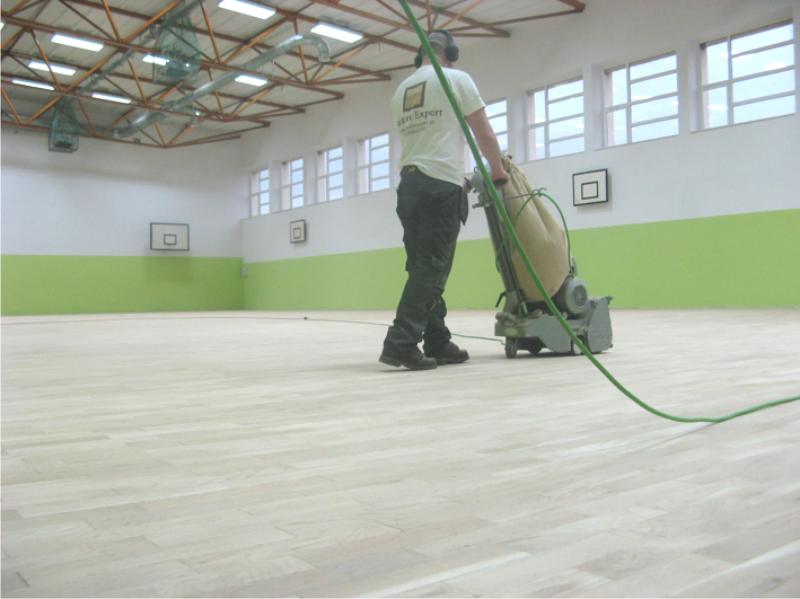 Renowacja sali gimnastycznej w Choszcznie.